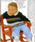 полосатый вязаный свитер на ребенка 1 год
