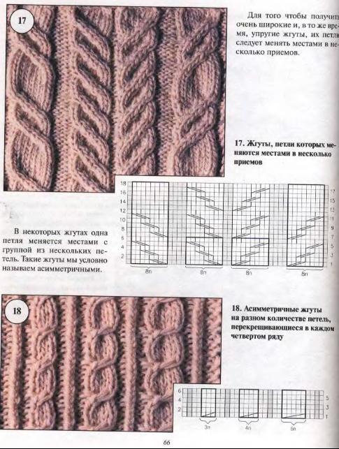 Вязание спицами схема мотыльки и косы 41