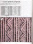 схемы вязания зигзаги вязание в аранской технике