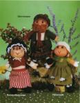 вязаные куклы в английских костюмах