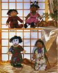 вязаные куклы в национальных костюмах индия китай япония