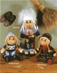 вязание кукол в национальных скандинавских костюмах