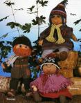 вязание кукол в народных костюмах Америки