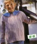 Вязаный свитер на девочку 6 лет