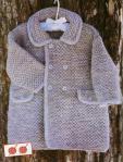 Вязаное пальто на девочку 1,5 года спицы