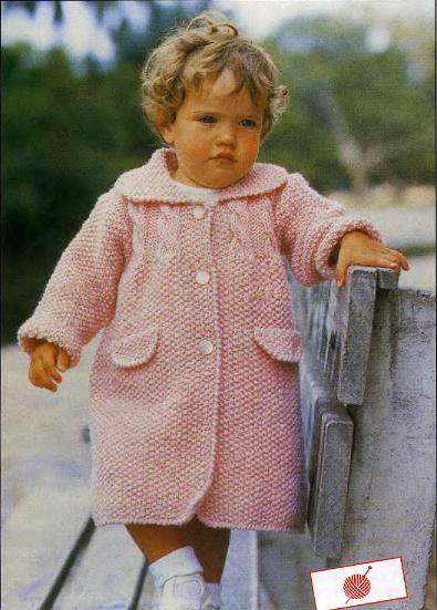розовое вязаное пальто спицами на девочку 1 год книги по вязанию