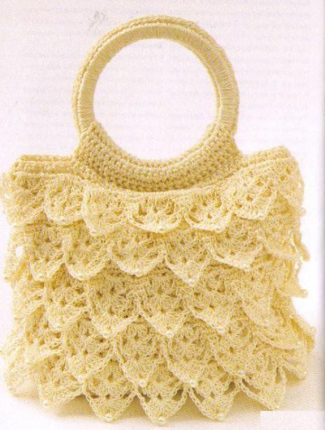 кружевная вязанная сумочка