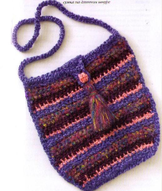 полосатая сумка через плечо