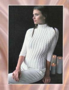 женский облегающий вязаный свитер со стойкой и с рукавом реглан